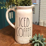 Rae Dunn inspired ICED COFFEE Decal