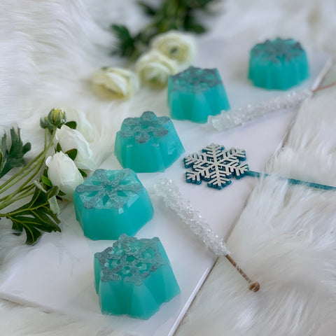 Frosted Snowflake Breast Milk Soap Bar
