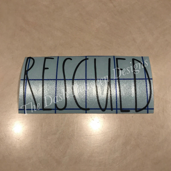 Rae Dunn Inspired RESCUED Decal