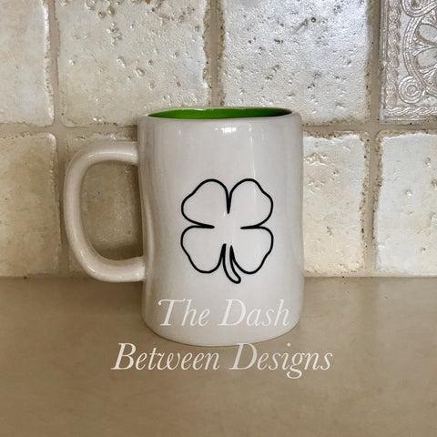 Rae Dunn Inspired Shamrock Decal