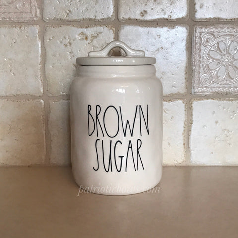 Rae Dunn Inspired BROWN SUGAR Decal