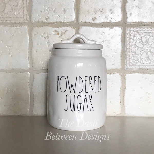 Rae Dunn Inspired POWDERED SUGAR Decal