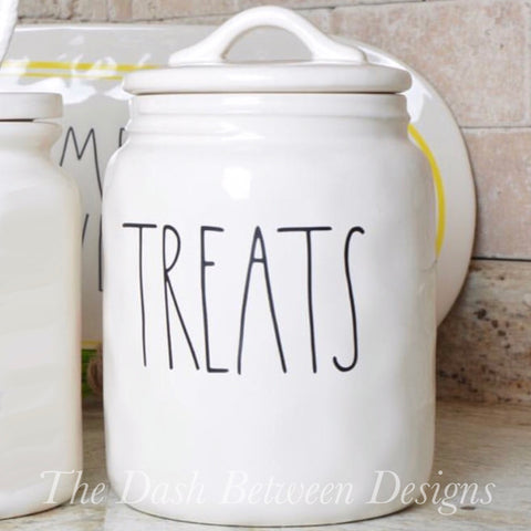 Rae Dunn Inspired Chubby TREATS Decal