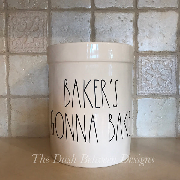 Rae Dunn Inspired BAKER'S GONNA BAKE Decal
