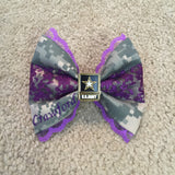 Army Deluxe Lace ACU Bow (old Army uniform) with Army Logo