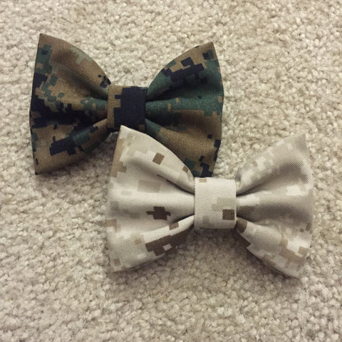 Marines Two-Pack Plain Camo Bows