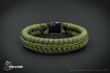 Olive Drab Paracord Fishtail Bracelet