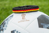 World Flag Paracord Double Stitched Fishtail (Germany / Deutschland)
