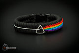 Dark Side of the Moon Wide Stitched Fishtail Paracord Bracelet (Limited Edition)