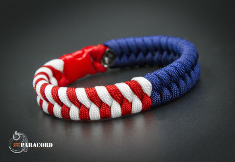 American Flag Paracord Fishtail Bracelet