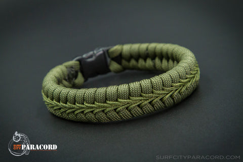 Sheriff Paracord Fishtail Bracelet