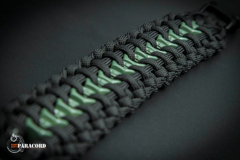 Hex Nut Paracord Bracelet (Black Olive)