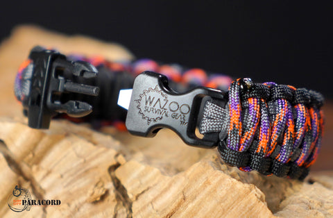 King Cobra Paracord Survival Bracelet with Wazoo Firestorm Buckle (Caustic Special Edition)