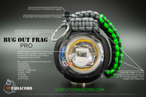 Pro Bug Out Frag® with integrated survival kit Zombie Decay