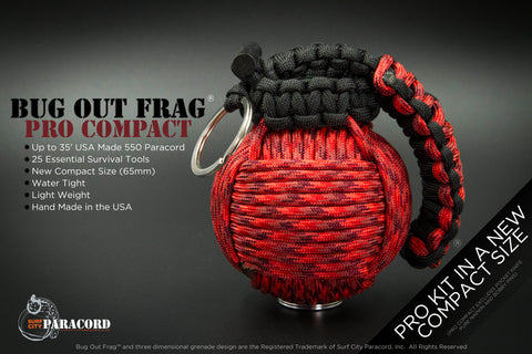 Bug Out Frag Pro Compact Survival Kit (Blood Type)