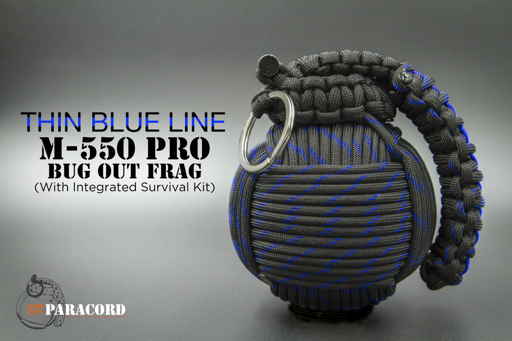 M-550 Pro Paracord Bugout Frag™ with integrated survival kit (Thin Blue Line)