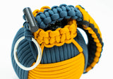 Bug Out Frag Pro Duo Paracord Survival Kit (Goldenrod / Slate Blue)