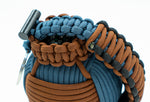 Bug Out Frag Pro Duo Paracord Survival Kit (Walnut / Slate Blue)