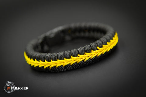 Thin Line Series Stitched Fishtail Paracord Bracelet (Dispatch)