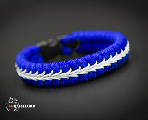 Thin Line Series Stitched Fishtail Paracord Bracelet (EMT/EMS)