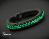 Thin Line Series Stitched Fishtail Paracord Bracelet (Federal Officer / Park Ranger)