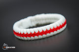Thin Line Series Stitched Fishtail Paracord Bracelet (Nurse)