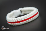 Wide Thin Line Stitched Fishtail Paracord Bracelet (Nurse)
