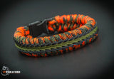 Wide Stitched Fishtail Paracord Bracelet (Open Season)