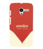 EPICCASE Energy in motion Back Case Cover for Moto X