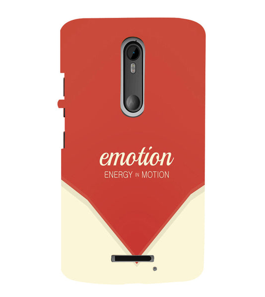 EPICCASE Energy in motion Back Case Cover for Moto X3