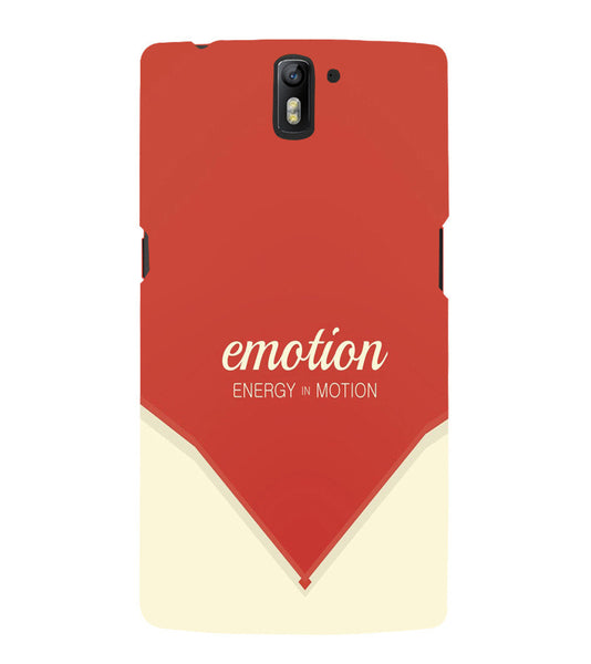 EPICCASE Energy in motion Back Case Cover for Oneplus One