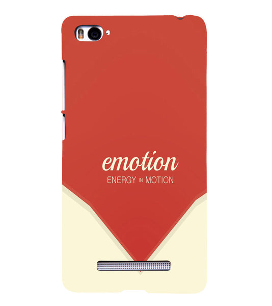 EPICCASE Energy in motion Back Case Cover for Xiaomi Redmi Mi4i