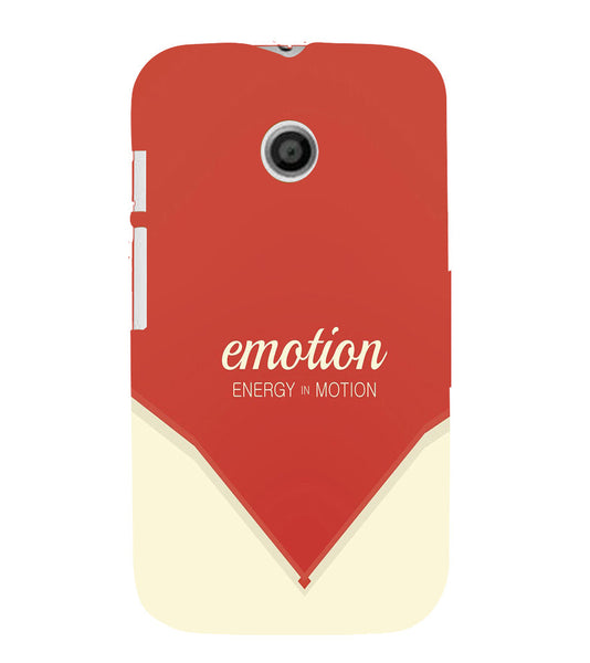 EPICCASE Energy in motion Back Case Cover for Moto E