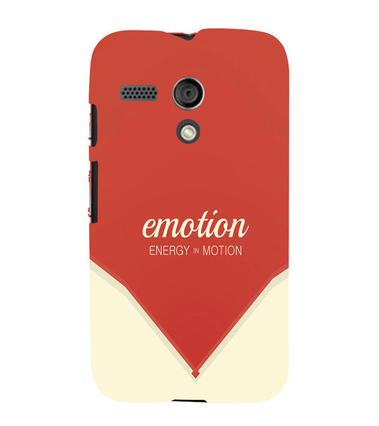 EPICCASE Energy in motion Back Case Cover for Moto G