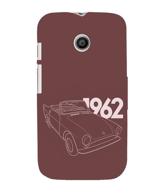 EPICCASE Vintage car 1962 Back Case Cover for Moto E