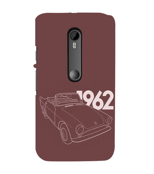 EPICCASE Vintage car 1962 Back Case Cover for Moto X Play