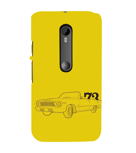 EPICCASE Vintage car 1973 Back Case Cover for Moto X Force