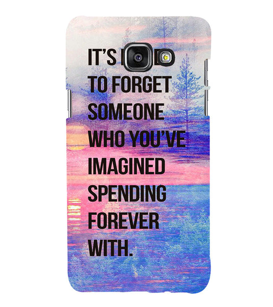 EPICCASE Sadness phases of life Back Case Cover for Samsung A7 2016