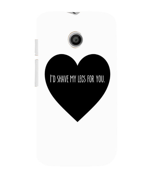 EPICCASE Things i do for you Back Case Cover for Moto E