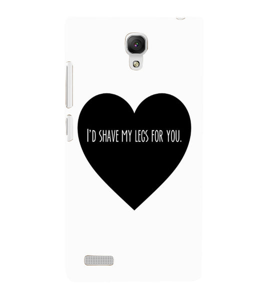 EPICCASE Things i do for you Back Case Cover for Xiaomi Redmi Note