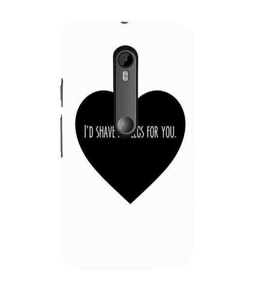 EPICCASE Things i do for you Back Case Cover for Moto X Force