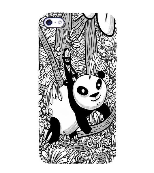 EPICCASE Black and white panda Back Case Cover for Apple iPhone 4