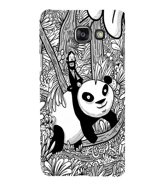 EPICCASE Black and white panda Back Case Cover for Samsung A5 2016
