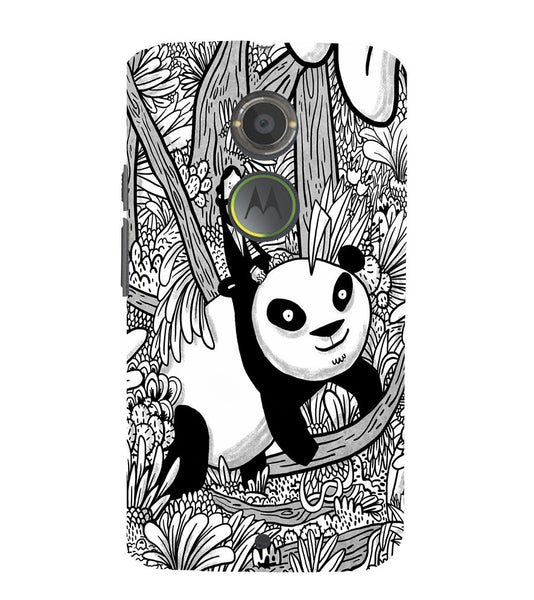 EPICCASE Black and white panda Back Case Cover for Moto X2