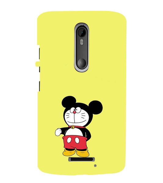 EPICCASE Dorae mickey Back Case Cover for Moto X3