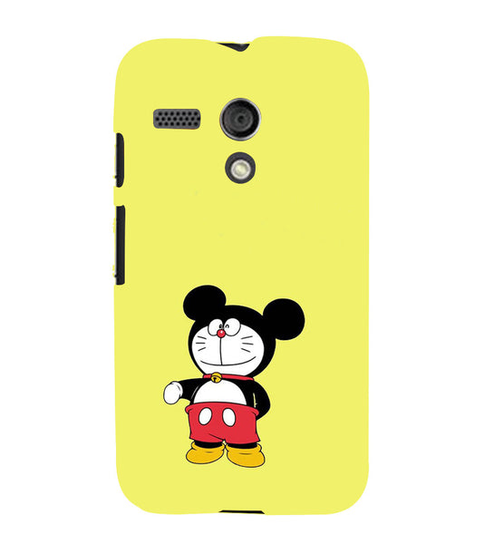 EPICCASE Dorae mickey Back Case Cover for Moto G