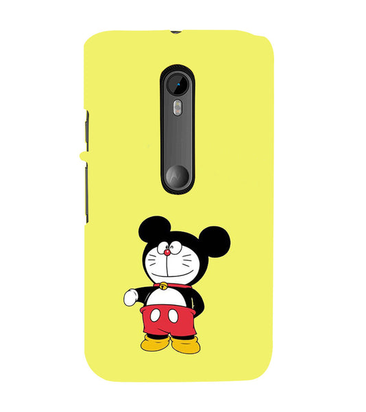 EPICCASE Dorae mickey Back Case Cover for Moto X Force