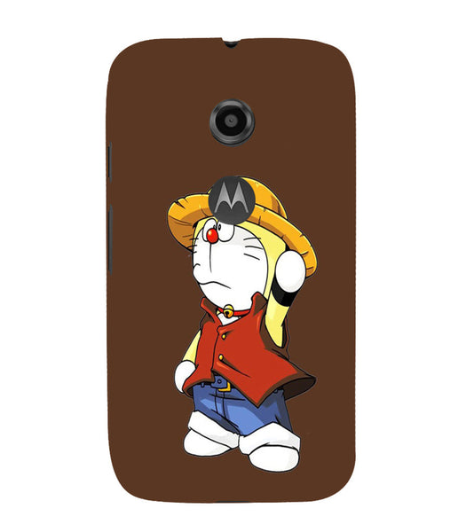 EPICCASE Dorae animated cartoon Back Case Cover for Moto E2