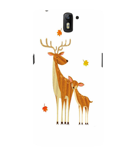 EPICCASE Deer Love  Back Case Cover for Oneplus One
