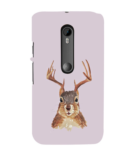 EPICCASE Squireel with horns Back Case Cover for Moto X Force